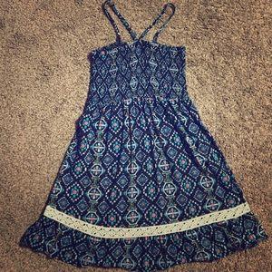 Girl 7-8 spaghetti strap cross back dress